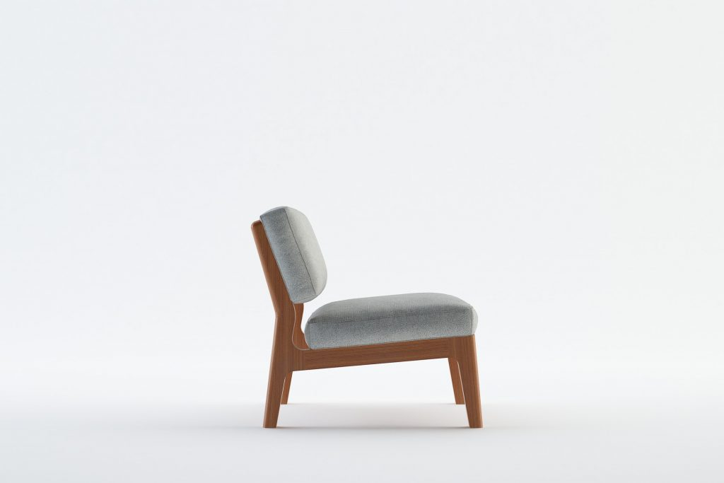 TEIDE 1 - MOKKOMOKKO Peak Solid Wood Fabric Armchair Furniture